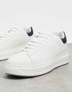 textured sneakers in white