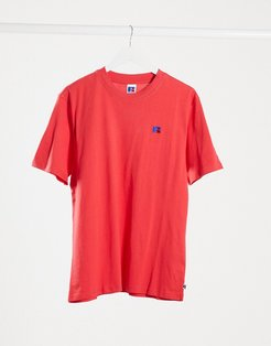 Baseliner t-shirt with chest logo in red