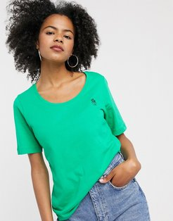 Femme tshirt with cactus motif in green-White