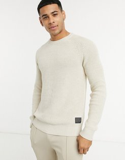 chunky sweater in off-white