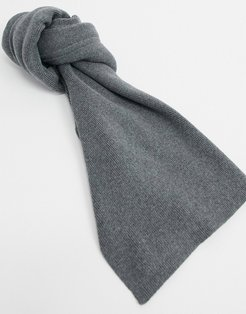 knitted cotton scarf in gray