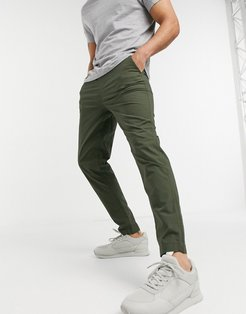 pants with organic cotton in dark green - part of a set