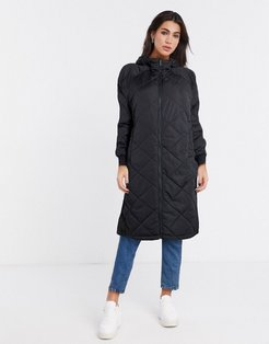 maddy quilted coat in black