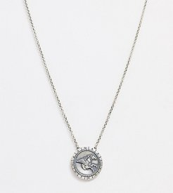 neck chain with orbis pendant in silver