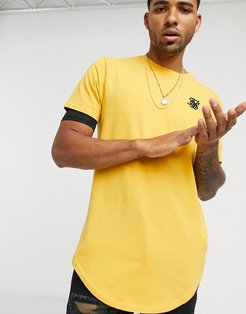 short sleeve gym t-shirt in yellow