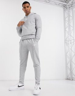 tailored sweatpants in gray