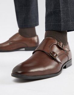 Smart Monk Shoes In Brown
