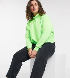 cropped sweatshirt in neon green