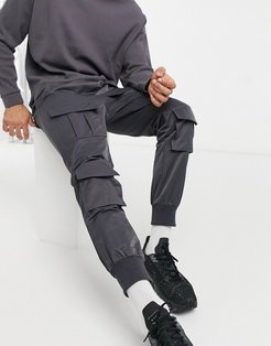 cargo pants in gray-Grey