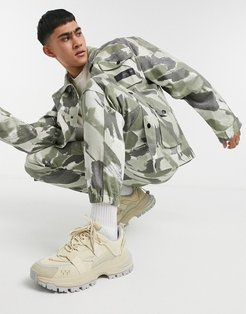 coordinating cargo pants in camo-Multi