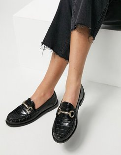 Taylored loafer in black croc
