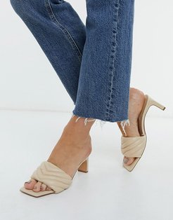 quilted mules in soft beige-Neutral