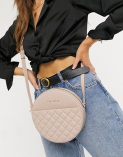 Cirus quilted circle bag in pink
