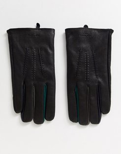 Parm leather gloves in black