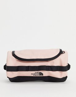 Base Camp small travel canister wash bag in pink