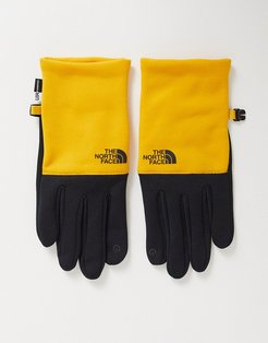 Recycled Etip glove in yellow