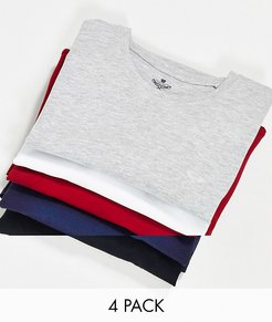 5 pack t-shirt with crew neck-Multi