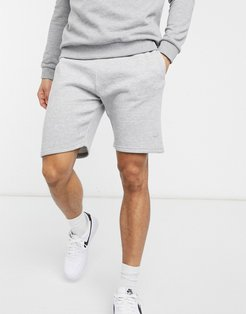 basic mix and match shorts in gray heather-Grey