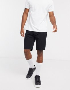 chino shorts in black