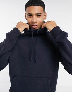 co-ord relaxed funnel sweatshirt in navy