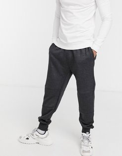 coordinating tapered sweatpants in gray