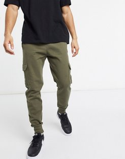 mix and match sweatpants in dark khaki-Green