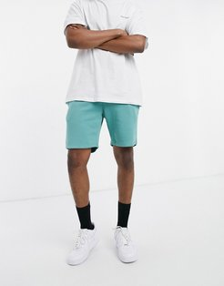 set basic jersey shorts in teal-Green
