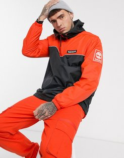 windbreaker pullover hooded jacket in orange