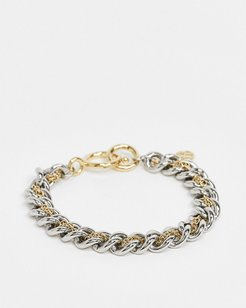 chain bracelet in mixed metal-Multi
