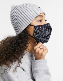 logo face covering in navy