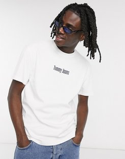 text chest and back logo t-shirt in white