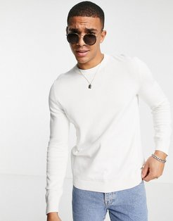 Considered essential knit sweater in white