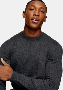 Considered salt & pepper knit sweater in gray-Grey