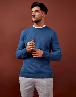 considered twist essential knitted sweater in blue-Blues