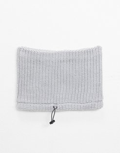 knitted snood in gray