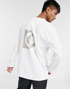 LTD long sleeve t-shirt with circle print in white