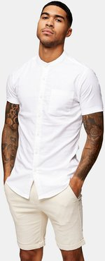 muscle fit oxford shirt in white