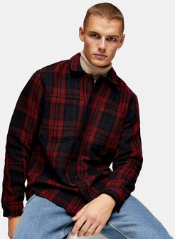 overshirt in red check