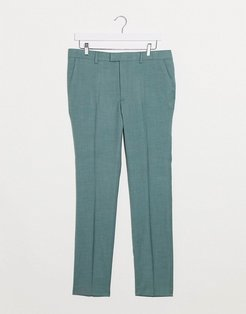 skinny fit suit trousers in green
