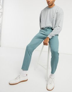smart sweatpants with elasticized waistband in sage-Green