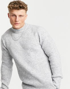 soft-touch turtleneck sweater in gray-Grey