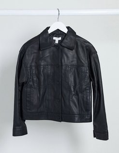 Boutique leather jacket in black