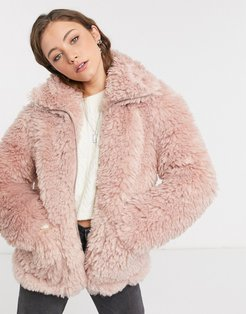 jacket in pink