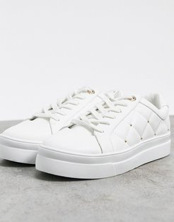quilted sneaker in white