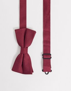 bow tie in burgundy-Red