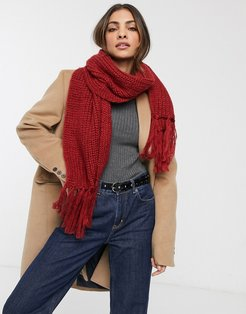 Urban Code Scarf In Burgandy-Red