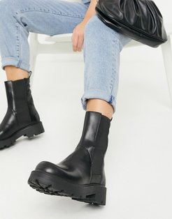 Cosmo 2.0 flat ankle calf boots in black