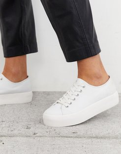 Peggy flatform sneaker in white canvas