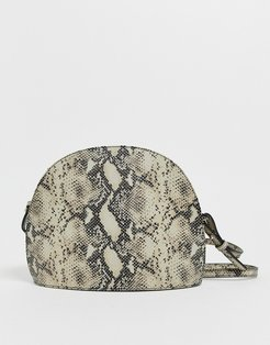 Shannon natural snake effect leather dome cross body bag-Multi