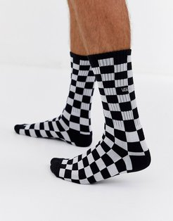 Checkerboard ii check sock in black/white